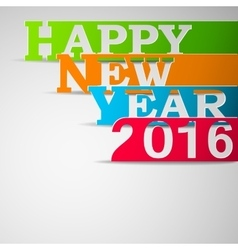 Paper strips with happy new year 2016 text vector