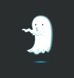 Cute Ghost Single 8 vector image