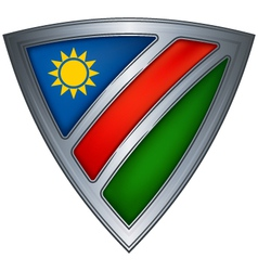 Steel shield namibia vector