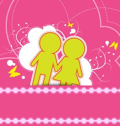 Wedding background design vector