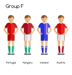 Football team players group f - portugal hungary vector