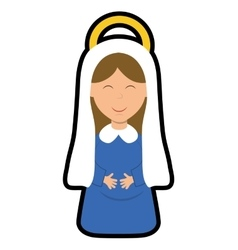Maria icon merry christmas design graphic vector