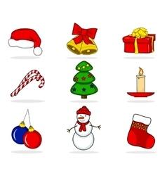 Christmas set of characters vector