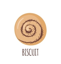 Biscuit icon on white background vector
