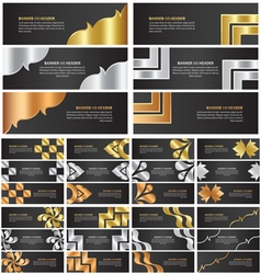 abstract gold silver and bronze banner template vector image