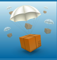 air parcels on a white background vector image vector image