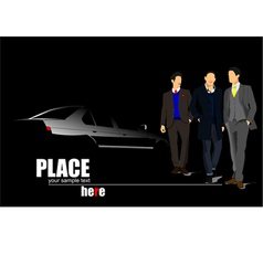 al 1109 men and car vector image vector image