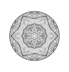 Art Lacy Mandala Ethnic decorative element Hand vector image vector image