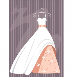 Ball dress vector