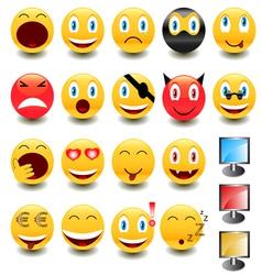 Big set of smiles vector image