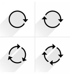 Black arrow loop refresh reload rotation icon vector