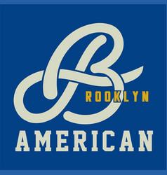 Brooklyn american vector