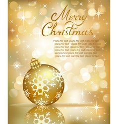 Christmas golden background vector image vector image