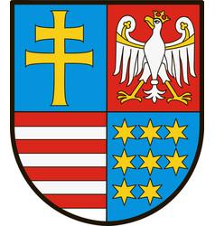 coat of arms of swietokrzyskie vs in poland vector image vector image