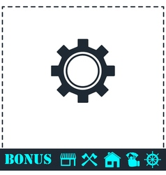 Cog icon flat vector image vector image
