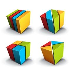 Cubes desgin element vector