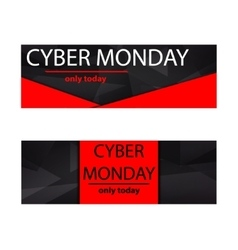 Cyber monday sales web elements vector image vector image
