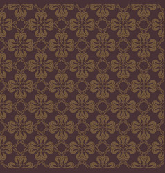 dark brown flower seamless pattern background vector image vector image