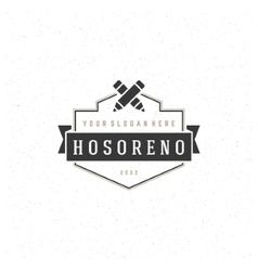Designer logotype design element in vintage style vector