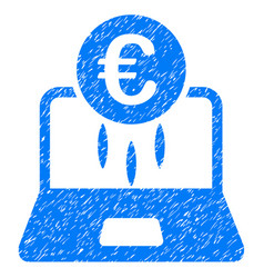 euro financial startup icon grunge watermark vector image