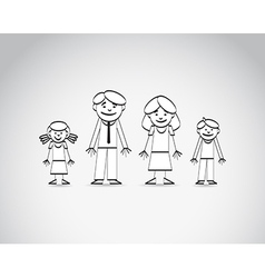 Family sketch vector