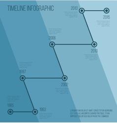 Flat blue diagonal timeline infographic vector image