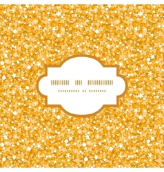 Golden shiny glitter texture frame seamless vector