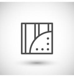 Gypsum plasterboard line icon vector image