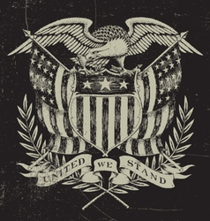 Hand Drawn American Eagle vector image
