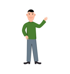 happy businessman cartoon style vector image
