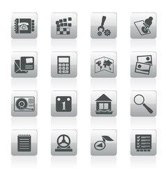 mobile phone and computer icon vector image vector image
