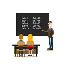 school people concept in flat vector image vector image