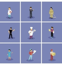 Set of Characters Popular Professions vector image