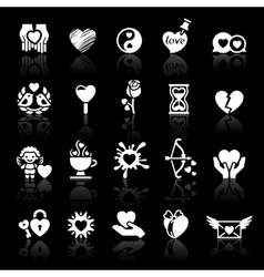 set valentines day icons love romantic symbols vector image vector image