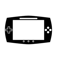 Silhouette game console portable play device vector