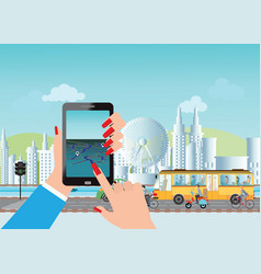 Smart city and smart phone application using vector