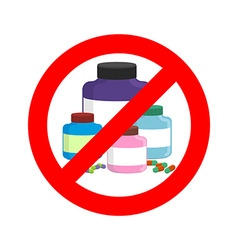 Stop doping It is forbidden to take stimulants vector image