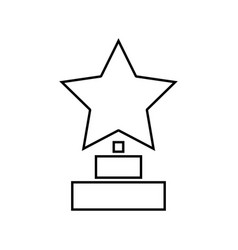 trophy star winner award it is black icon vector image vector image