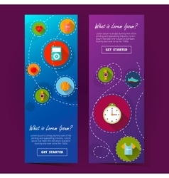 two cool vertical banner ilustration vector image