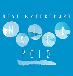 With signature best watersport water polo vector