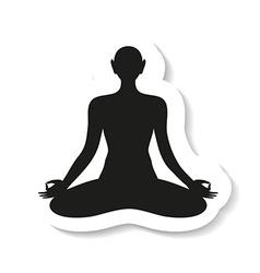 yoga meditation harmony body and soul template vector image vector image