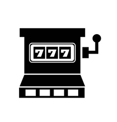 Jackpot slots machine icon vector
