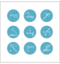 Home repair line icons vector