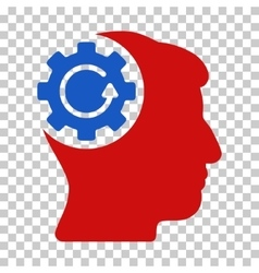 Intellect gear rotation icon vector