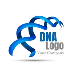 Dna logo design template modern medical logotype vector