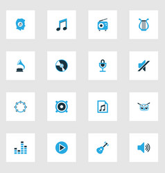 Multimedia colorful icons set collection of radio vector