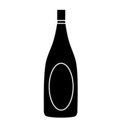 Champagne bottle drink alcohol wedding celebration vector