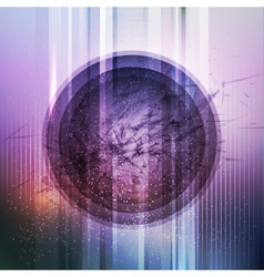 Circular futuristic background vector