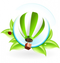 icon with hot air balloon vector image