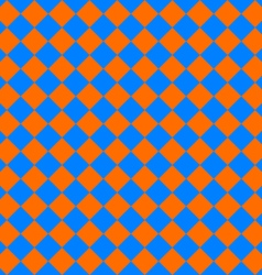 Diagonal cloth seamless pattern orange and blue vector